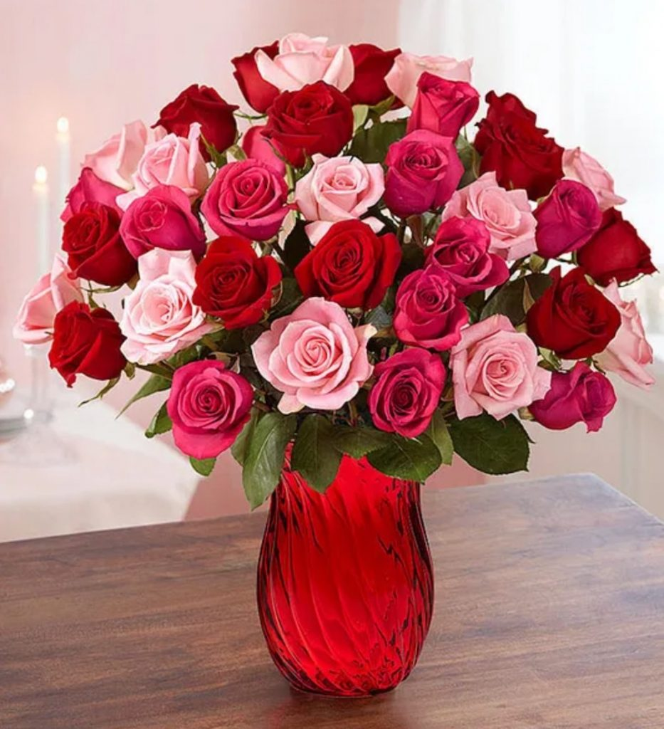 Love is in the Air Enchanted Rose Medley Bouquet by 1800 Flowers #flowers #FlowerDelivery #bouquets #OnlineFlowers #FlowersOnline #ValentinesDay #ValentinesFlowers #SendFlowers