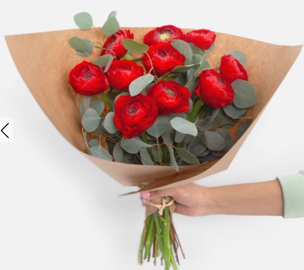 Best Valentine's Flowers and Plants Fire Red Ranunculus Bouquet #flowers #FlowerDelivery #bouquets #OnlineFlowers #FlowersOnline #ValentinesDay #ValentinesFlowers #SendFlowers