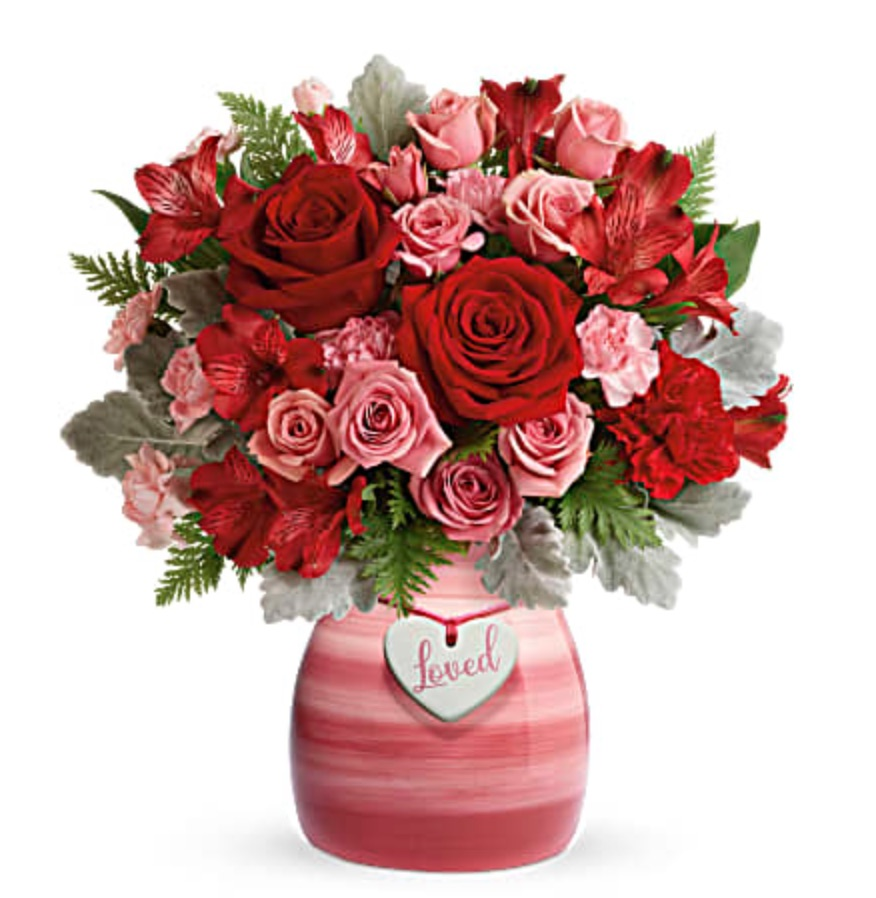 Celebrate the Season of Love Playfully Pink Bouquet by Teleflora #flowers #flowerdelivery #bouquets #OnlineFlowers #FlowersOnline #ValentinesDay #ValentinesFlowers #SendFlowers