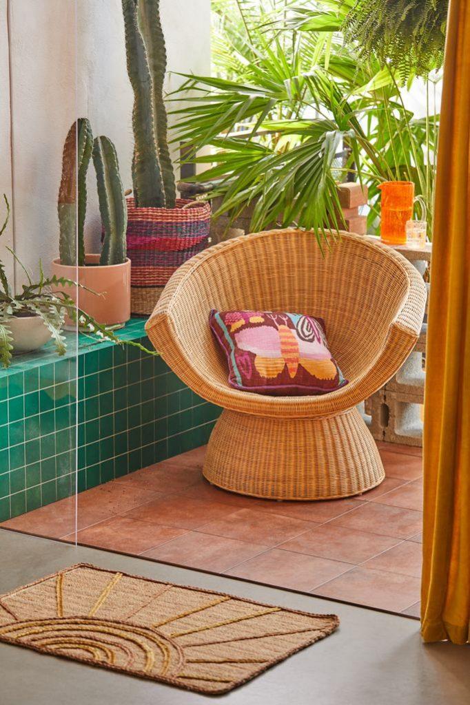 Decorate in Vintage Style Roma Rattan Chair #Coastal #CoastalDecorTips #BeachHouse #BeachHome #LakeHouse #CoastalDecor #SeasideDecor #IslandDecor #TropicalIslandDecor