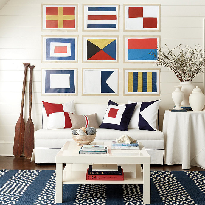 Ways to Add Coastal Decor to Your Home Seafarer Nautical Flags #Coastal #CoastalDecorTips #BeachHouse #BeachHome #LakeHouse #CoastalDecor #SeasideDecor #IslandDecor #TropicalIslandDecor