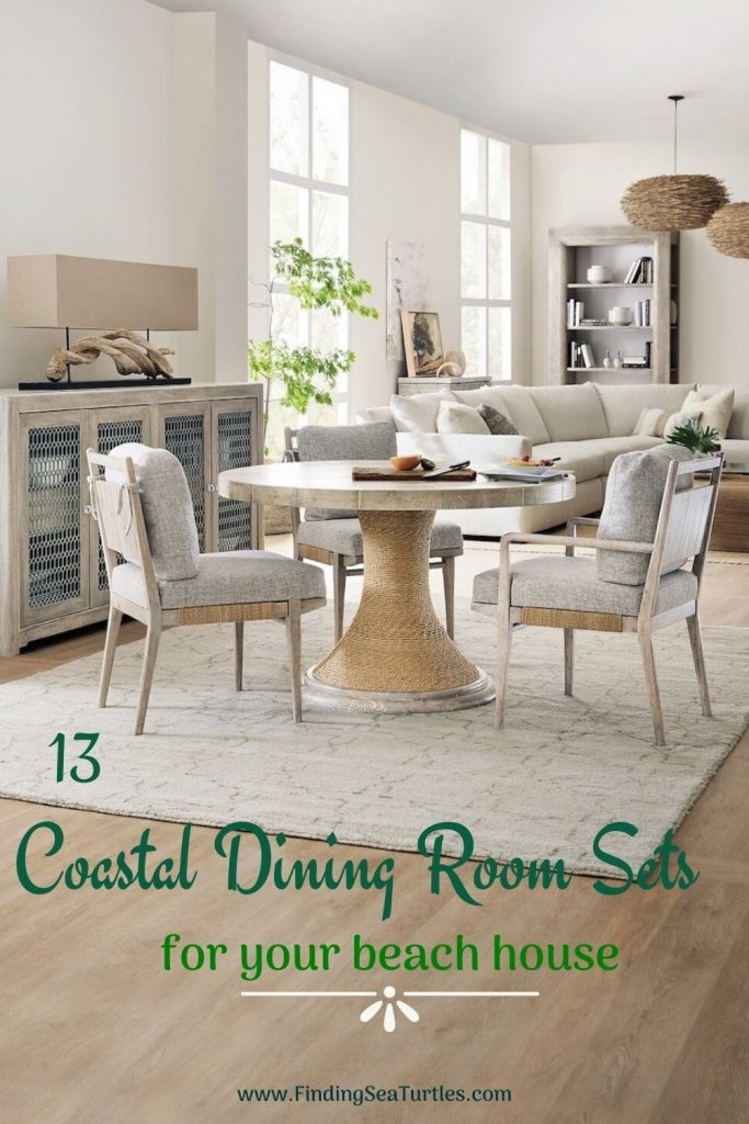 13 Coastal Dining Room Sets for your beach house #Coastal #DiningRoom #CoastalDiningRoom #CoastalDiningSets #CoastalDecor #CoastalHomeDecor #BeachHouse #SeasideStyle #LakeHouse #SummerHouse #DiningRoomAccessories