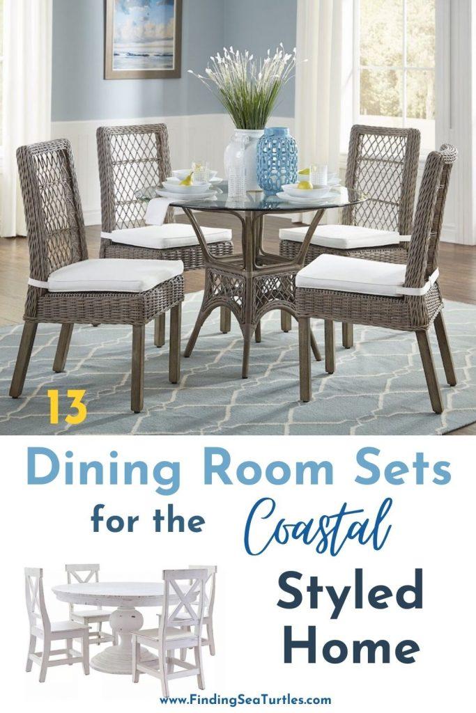 13 Dining Room sets for the Coastal Styled Home #Coastal #DiningRoom #CoastalDiningRoom #CoastalDiningSets #CoastalDecor #CoastalHomeDecor #BeachHouse #SeasideStyle #LakeHouse #SummerHouse #DiningRoomAccessories