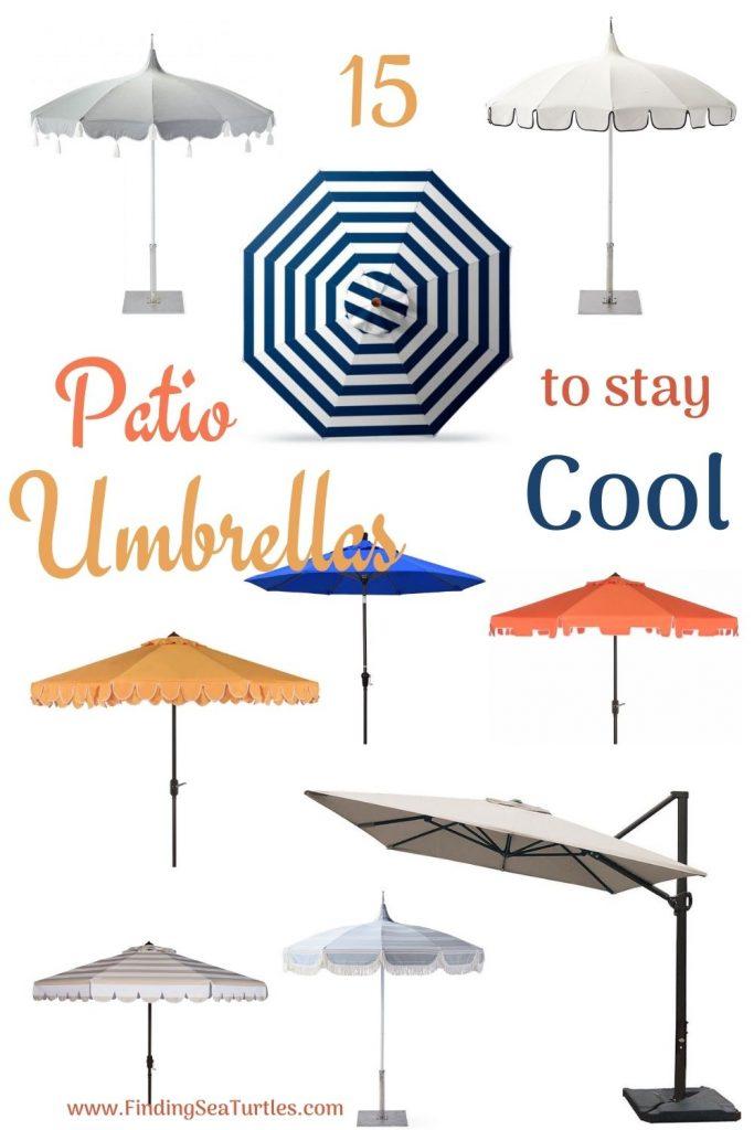 15 Patio Umbrellas to stay Cool #PatioUmbrella #MarketUmbrella #Pool #PoolSide #Patio #Summer #OutdoorSpaces #Backyard #PatioDecor #PatioFurniture #SummerHouse #CoastalHome #BeachHouse #LakeHouse #IslandHome #OutdoorLiving #BeachHouseStyle #BeachHouseDecor