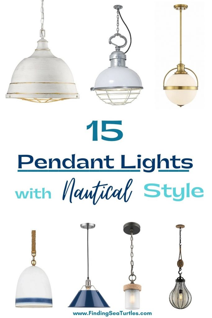 15 Pendant Lights with Nautical Style #Coastal #Nautical #NauticalPendants #Lighting #DiningRoom #CoastalDiningRoom #CoastalKitchen #CoastalDecor #CoastalHomeDecor #BeachHouse #SeasideStyle #LakeHouse #SummerHouse