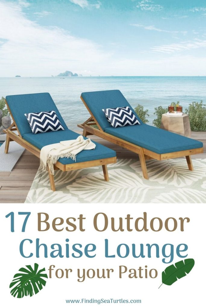 17 Best Outdoor Chaise Lounge for your Patio #ChaiseLounge #Pool #PoolSide #Patio #Summer #OutdoorSpaces #Backyard #PatioDecor #PatioFurniture #SummerHouse #CoastalHome #BeachHouse #LakeHouse #IslandHome #OutdoorLiving #BeachHouseStyle #BeachHouseDecor