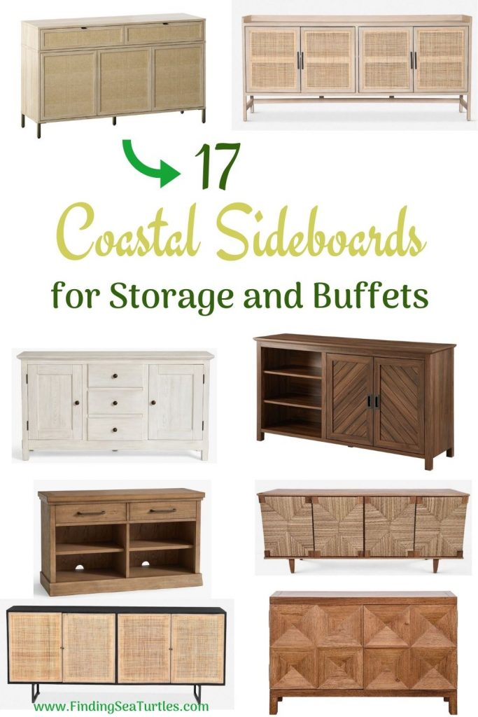 17 Coastal Sideboards for Storage and Buffets #Coastal #DiningRoom #Sideboard #Buffet #CoastalSideboard #CoastalDiningRoom #CoastalDiningSets #CoastalDecor #CoastalHomeDecor #BeachHouse #SeasideStyle #LakeHouse #SummerHouse #DiningRoomAccessories