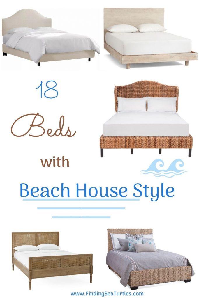 18 Beds with Beach House Style #Coastal #Beds #BedRoom #CoastalBeds #CoastalBedroom #CoastalDecor #CoastalHome #CoastalLiving #BeachHouse #SeasideStyle #LakeHouse #SummerHouse #CoastalBohoDecor