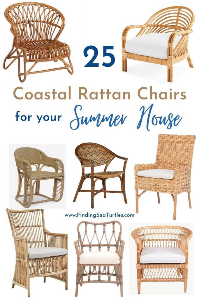 25 Coastal Rattan Chairs for your Summer House #RattanChairs #AccentChairs #CoastalAccentChairs #Coastal #LivingRoom #Bedroom #HomeDecor #BeachHouse #SummerHouse #LakeHouse #CoastalHome