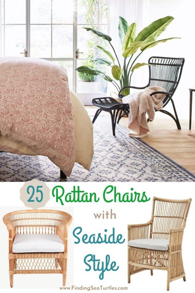 25 Rattan Chairs with Seaside Style #RattanChairs #AccentChairs #CoastalAccentChairs #Coastal #LivingRoom #Bedroom #HomeDecor #BeachHouse #SummerHouse #LakeHouse #CoastalHome