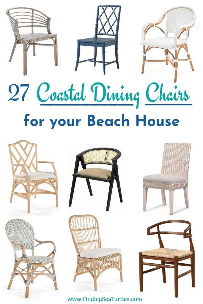 27 Coastal Dining Chairs for your Beach House #Coastal #DiningRoom #CoastalDiningRoom #CoastalDiningSets #CoastalDecor #CoastalHomeDecor #BeachHouse #SeasideStyle #LakeHouse #SummerHouse #DiningRoomAccessories