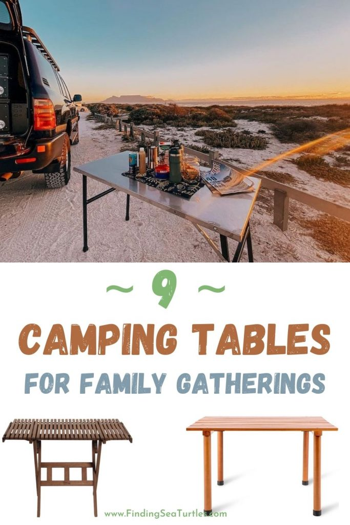 9 Camping Tables for Family Gatherings #Picnic #PicnicCampingTable #PicnicattheLake #PicnicattheBeach #PicnicIdeas #SimplePleasures #FamilyPicnic #FamilyFun #Summer #BrunchattheBeach #BrunchIdeas #BeachBrunch #BrunchWithFriends