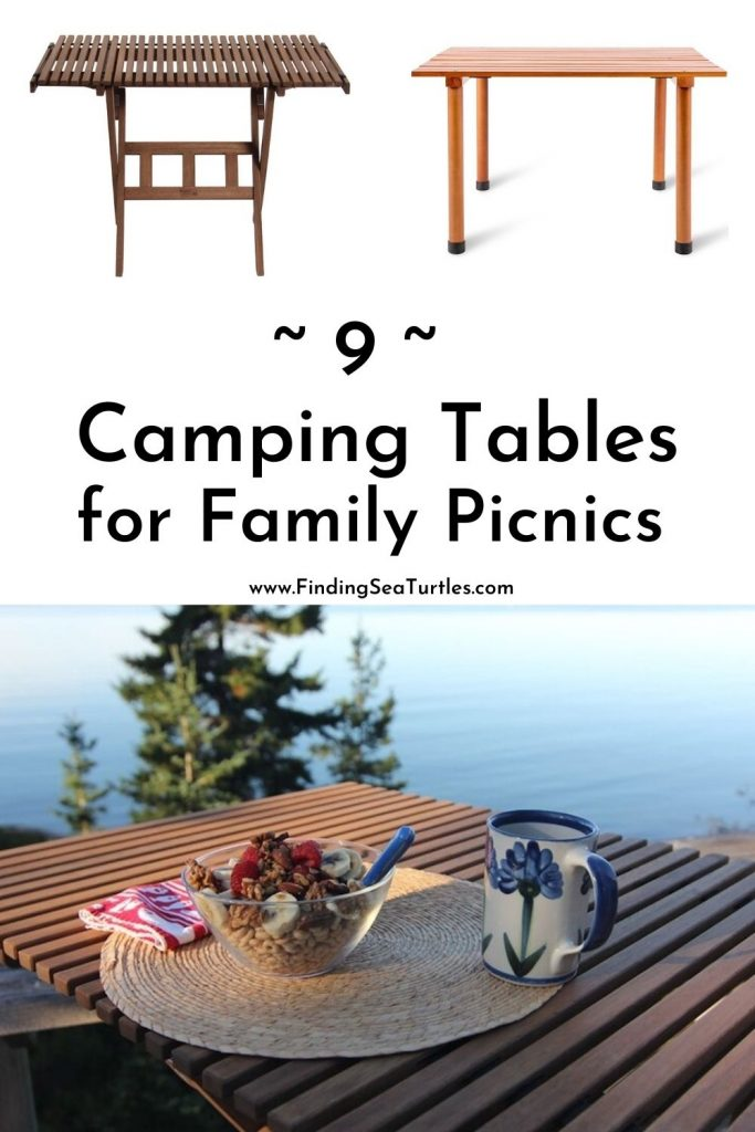 9 Camping Tables for Family Picnics #Picnic #PicnicCampingTable #PicnicattheLake #PicnicattheBeach #PicnicIdeas #SimplePleasures #FamilyPicnic #FamilyFun #Summer #BrunchattheBeach #BrunchIdeas #BeachBrunch #BrunchWithFriends