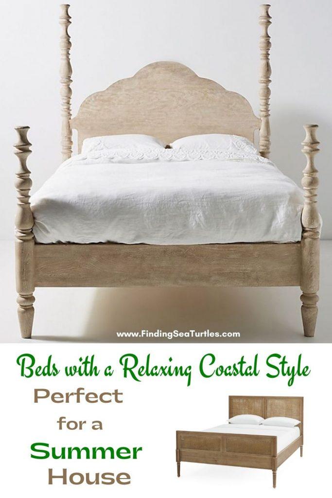 Beds with a Relaxing Coastal Style Perfect for a Summer House #Coastal #Beds #BedRoom #CoastalBeds #CoastalBedroom #CoastalDecor #CoastalHome #CoastalLiving #BeachHouse #SeasideStyle #LakeHouse #SummerHouse #CoastalBohoDecor