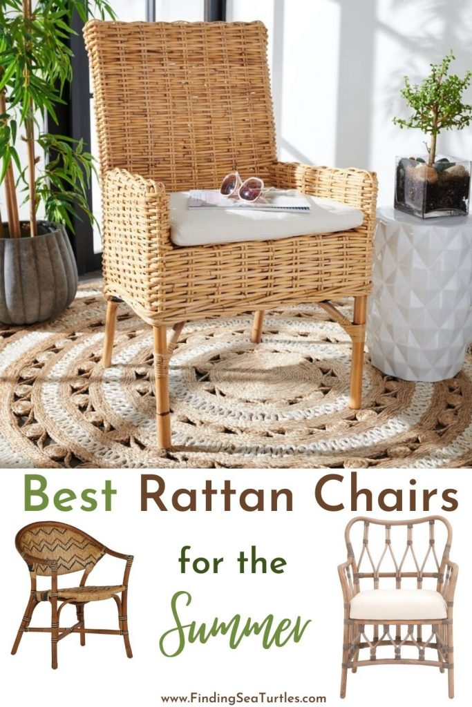 Best Rattan Chairs for the Summer #RattanChairs #AccentChairs #CoastalAccentChairs #Coastal #LivingRoom #Bedroom #HomeDecor #BeachHouse #SummerHouse #LakeHouse #CoastalHome