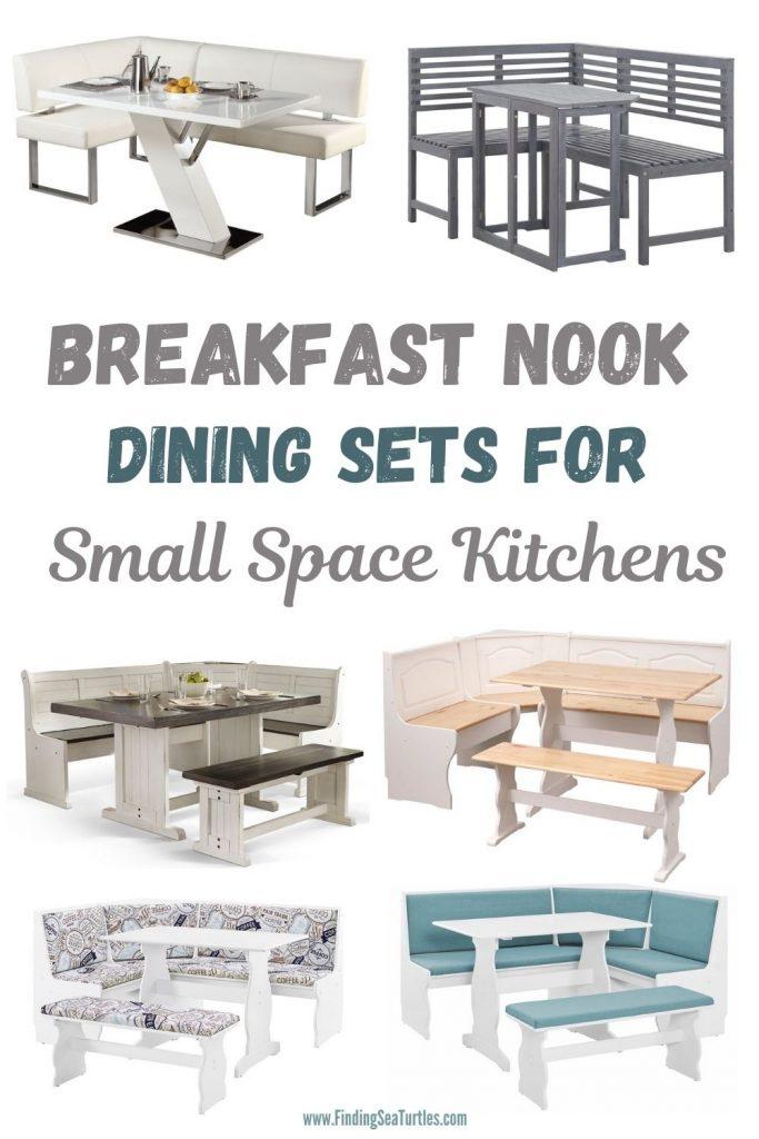 Breakfast Nook Dining Sets for Small Space Kitchens #Coastal #DiningRoom #BreakfastNook #DiningSets #CoastalDiningRoom #CoastalDiningSets #CoastalDecor #CoastalHomeDecor #BeachHouse #SeasideStyle #LakeHouse #SummerHouse
