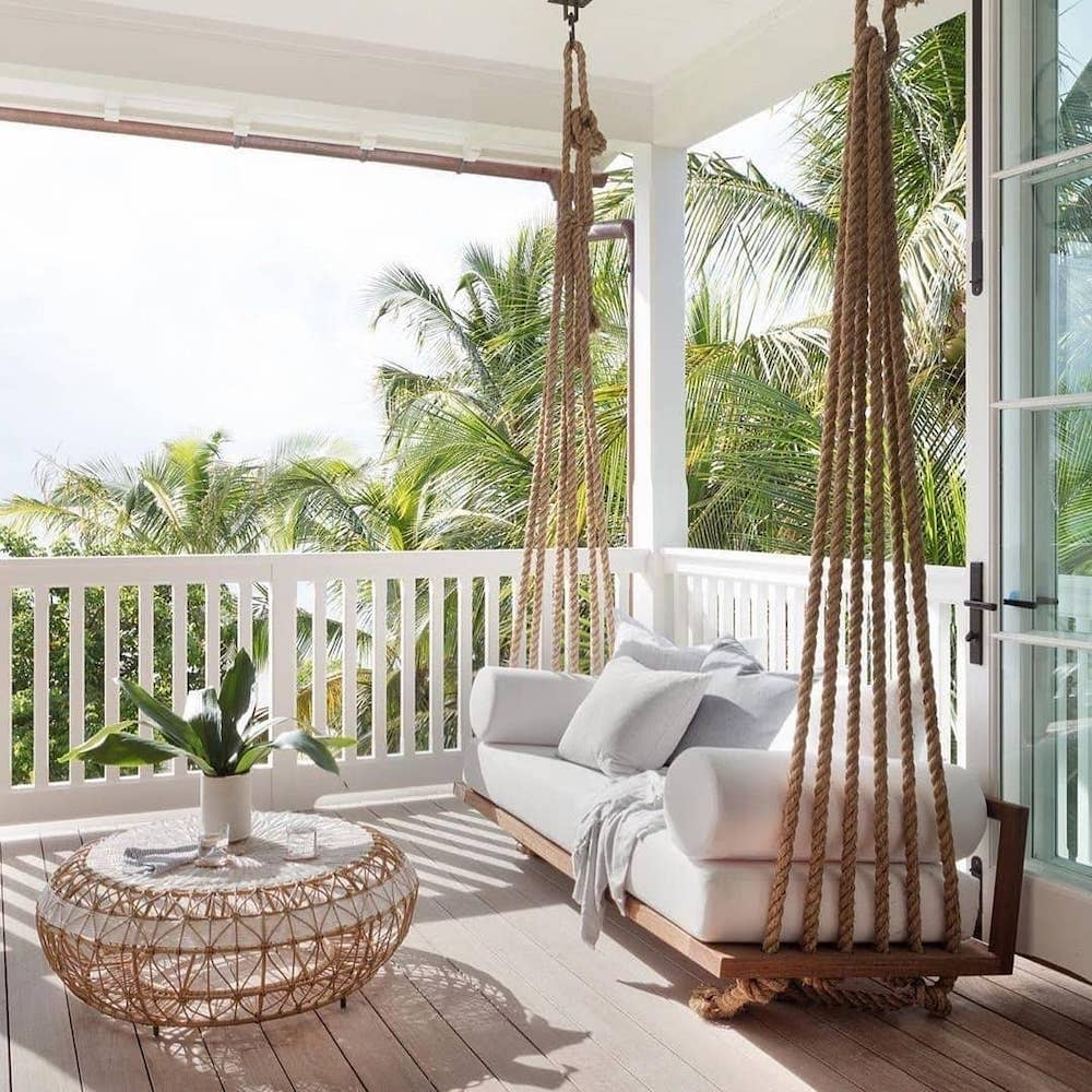 Breezy Afternoon #Balcony #BalconyDecor #BalconyDecorIdeas #CoastalBalcony #HomeDecor #AtHomeontheBalcony #HomeDecorTips #BalconyHome