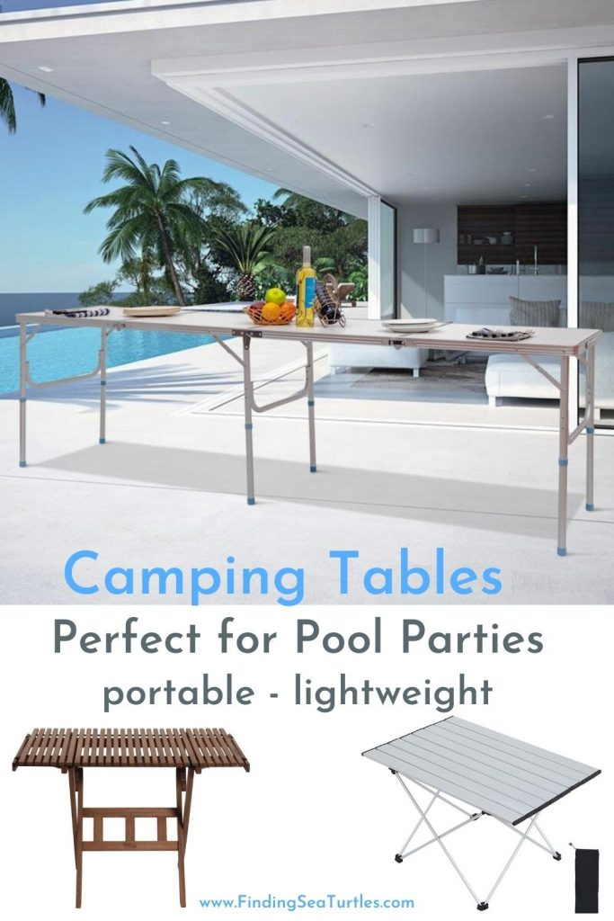 Camping Tables Perfect for Pool Parties portable lightweight #Picnic #PicnicCampingTable #PicnicattheLake #PicnicattheBeach #PicnicIdeas #SimplePleasures #FamilyPicnic #FamilyFun #Summer #BrunchattheBeach #BrunchIdeas #BeachBrunch #BrunchWithFriends