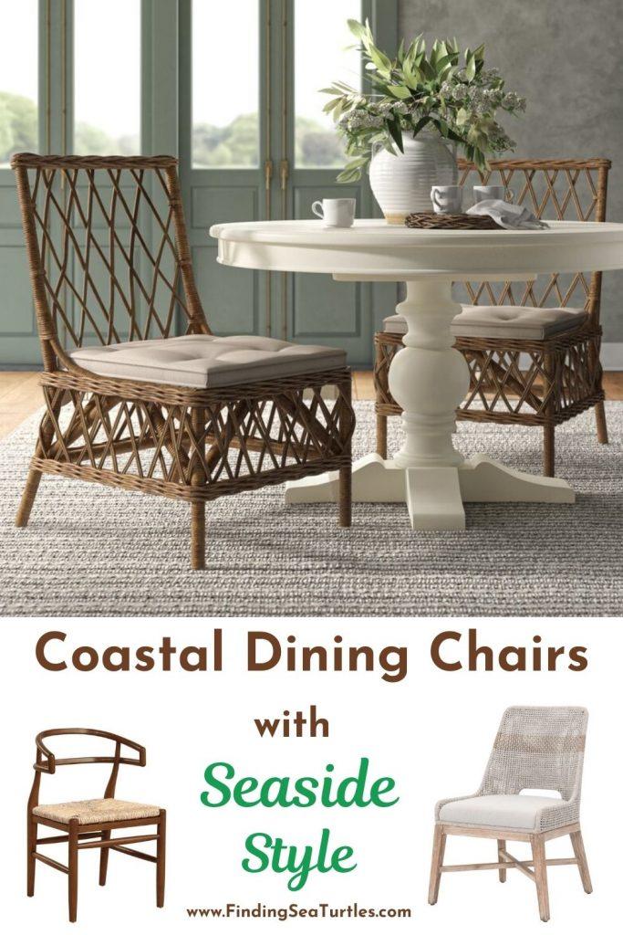 Coastal Dining Chairs with Seaside Style #Coastal #DiningRoom #CoastalDiningRoom #CoastalDiningSets #CoastalDecor #CoastalHomeDecor #BeachHouse #SeasideStyle #LakeHouse #SummerHouse #DiningRoomAccessories