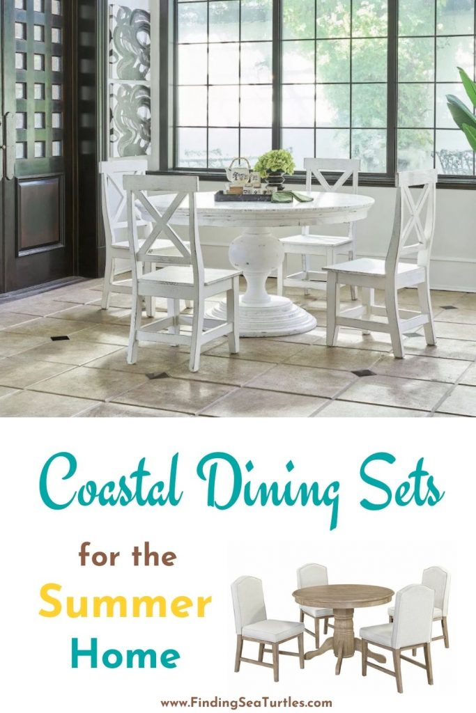 Coastal Dining Sets for the Summer Home #Coastal #DiningRoom #CoastalDiningRoom #CoastalDiningSets #CoastalDecor #CoastalHomeDecor #BeachHouse #SeasideStyle #LakeHouse #SummerHouse #DiningRoomAccessories