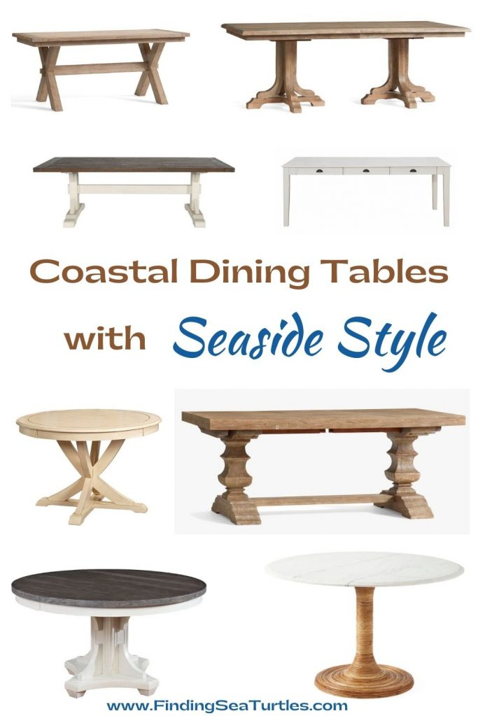 Coastal Dining Tables with Seaside Style #Coastal #DiningRoom #DiningTables #DinnerTable #CoastalDiningRoom #CoastalDiningSets #CoastalDecor #CoastalHomeDecor #BeachHouse #SeasideStyle #LakeHouse #SummerHouse #DiningRoomAccessories