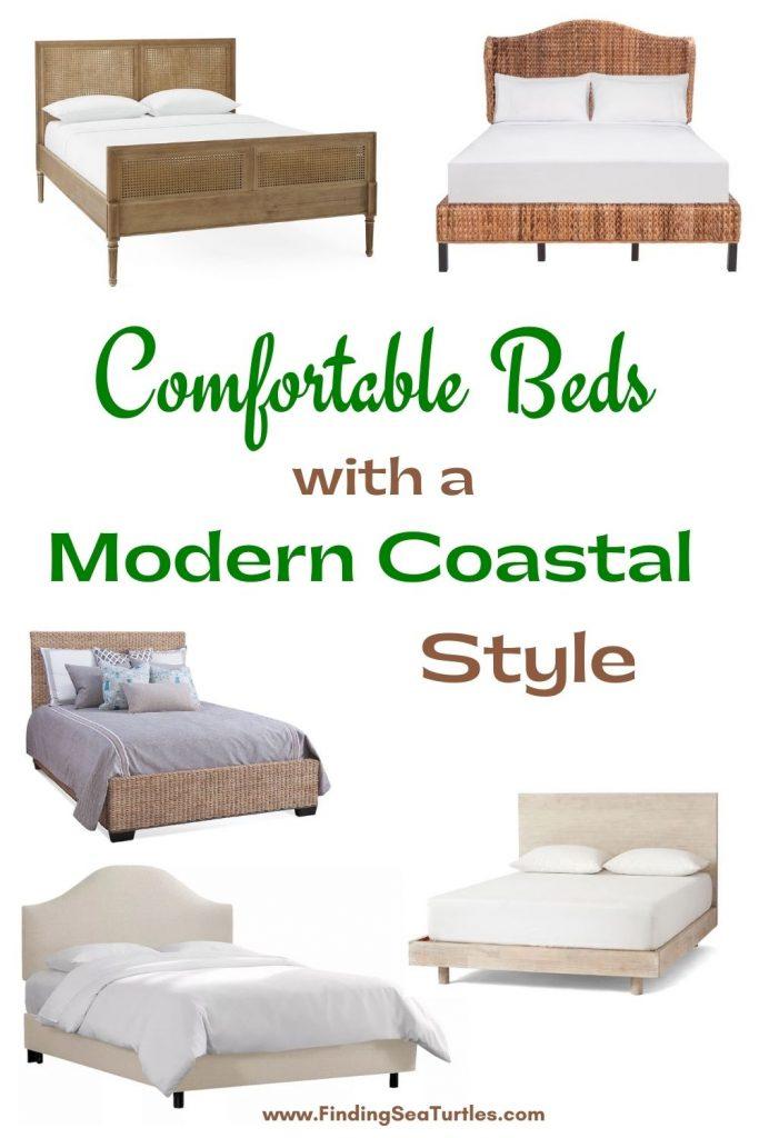 Comfortable Beds with a Modern Coastal Style #Coastal #Beds #BedRoom #CoastalBeds #CoastalBedroom #CoastalDecor #CoastalHome #CoastalLiving #BeachHouse #SeasideStyle #LakeHouse #SummerHouse #CoastalBohoDecor