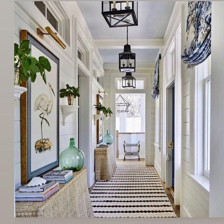 Connect a Long Entryway with a Runner #Coastal #CoastalDecor #Entryway #Foyer #CoastalEntryway #CoastalFoyer #BeachHouse #BeachHome #SummerHouse #LakeHouse #ConsoleTable #SeasideDecor #IslandDecor #TropicalIslandDecor