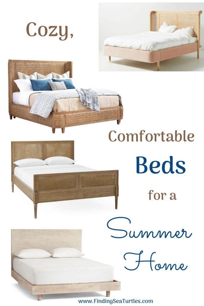 Cozy Comfortable Beds for a Summer Home #Coastal #Beds #BedRoom #CoastalBeds #CoastalBedroom #CoastalDecor #CoastalHome #CoastalLiving #BeachHouse #SeasideStyle #LakeHouse #SummerHouse #CoastalBohoDecor