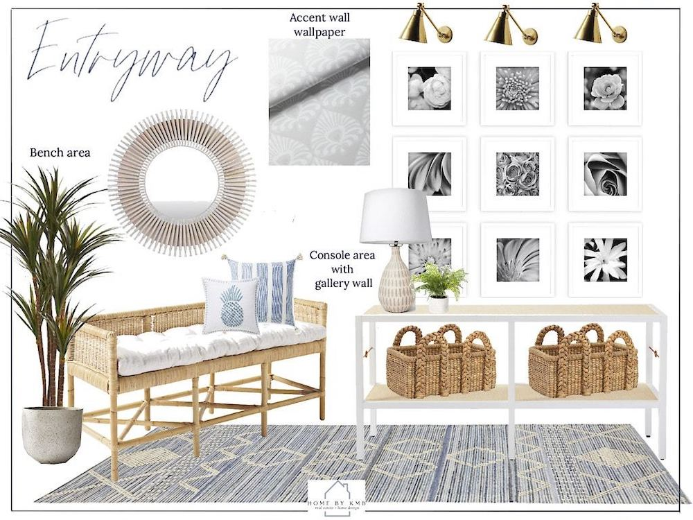 Create a Design Board #StyleAConsoleTable #Entryway #Foyer #ConsoleTable #HomeDecor #ConsoleTableDecor #HallwayTable #HomeDecorTips #StylingTips