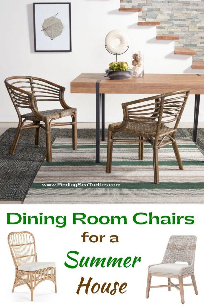 Dining Room Chairs for a Summer House #Coastal #DiningRoom #CoastalDiningRoom #CoastalDiningSets #CoastalDecor #CoastalHomeDecor #BeachHouse #SeasideStyle #LakeHouse #SummerHouse #DiningRoomAccessories