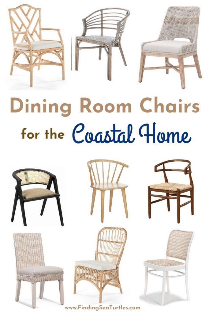 Dining Room Chairs for the Coastal Home #Coastal #DiningRoom #CoastalDiningRoom #CoastalDiningSets #CoastalDecor #CoastalHomeDecor #BeachHouse #SeasideStyle #LakeHouse #SummerHouse #DiningRoomAccessories