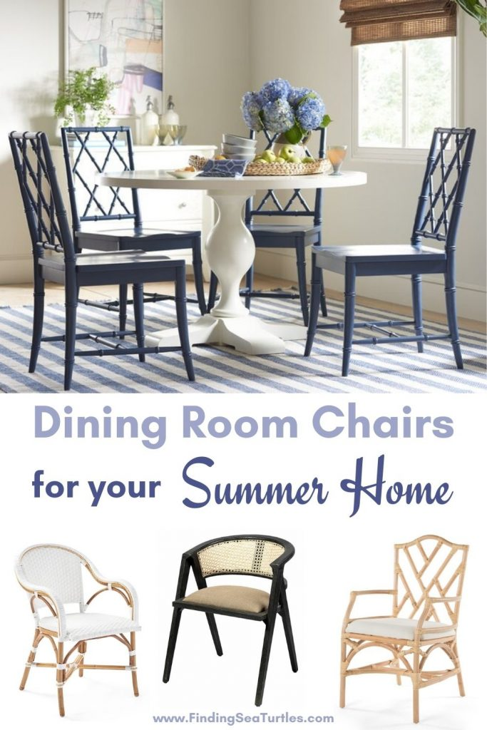 Dining Room Chairs for your Summer Home #Coastal #DiningRoom #CoastalDiningRoom #CoastalDiningSets #CoastalDecor #CoastalHomeDecor #BeachHouse #SeasideStyle #LakeHouse #SummerHouse #DiningRoomAccessories