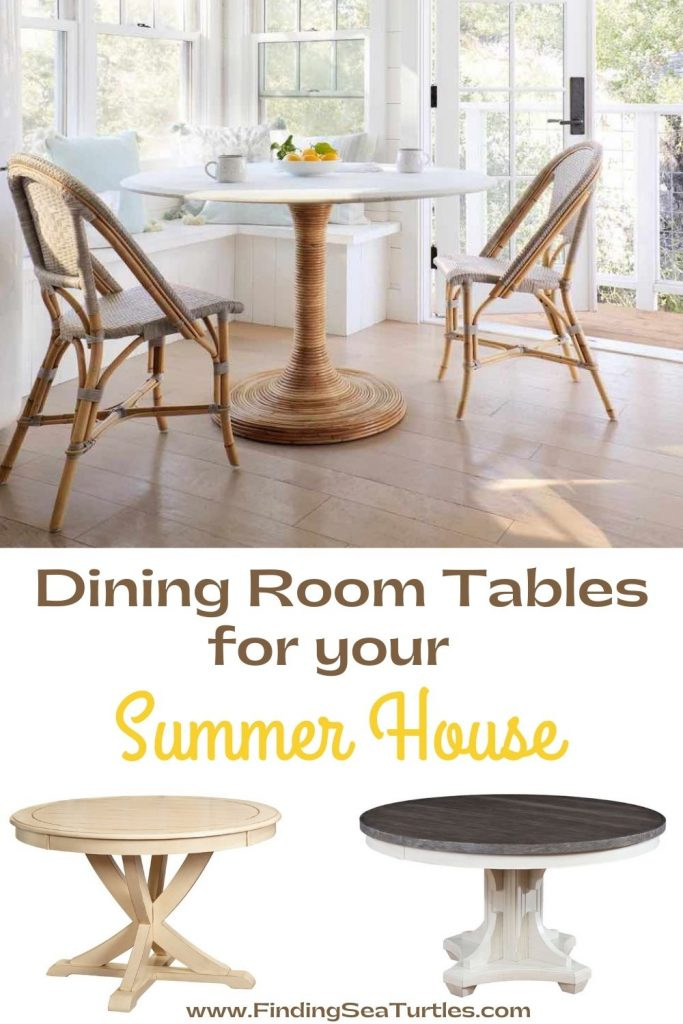 Dining Room Tables for your Summer House #Coastal #DiningRoom #DiningTables #DinnerTable #CoastalDiningRoom #CoastalDiningSets #CoastalDecor #CoastalHomeDecor #BeachHouse #SeasideStyle #LakeHouse #SummerHouse #DiningRoomAccessories