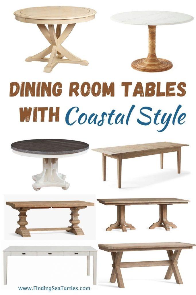 Dining Room Tables with Coastal Style #Coastal #DiningRoom #DiningTables #DinnerTable #CoastalDiningRoom #CoastalDiningSets #CoastalDecor #CoastalHomeDecor #BeachHouse #SeasideStyle #LakeHouse #SummerHouse #DiningRoomAccessories
