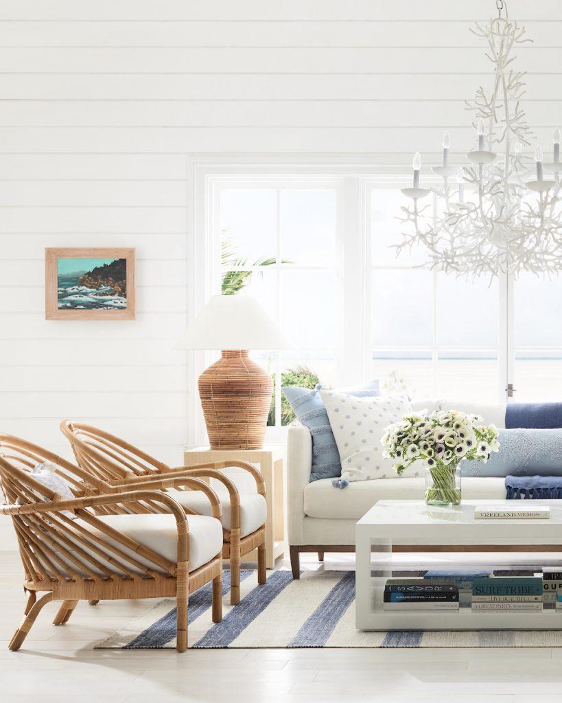 Coastal Rattan Chairs Edgewater Lounge Chair #RattanChairs #AccentChairs #CoastalAccentChairs #Coastal #LivingRoom #Bedroom #HomeDecor #BeachHouse #SummerHouse #LakeHouse #CoastalHome