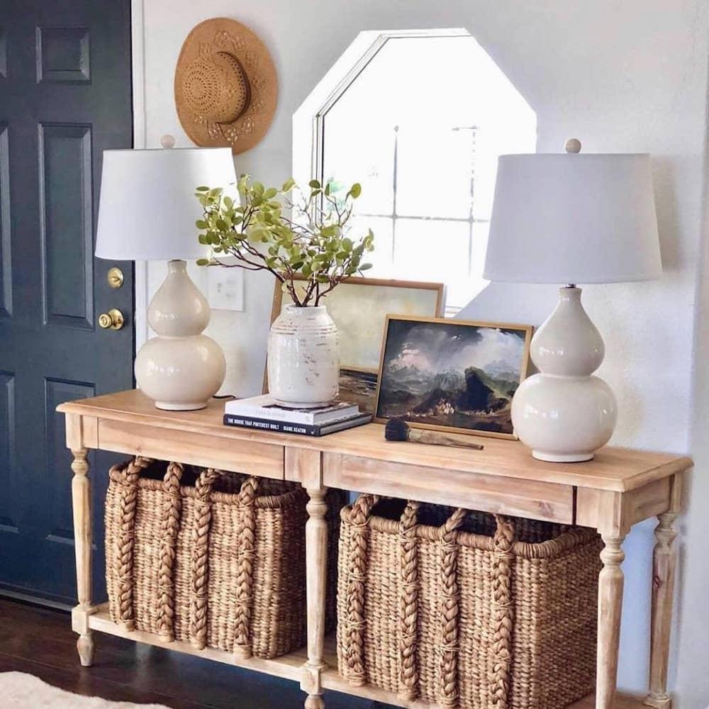 Expand Your Storage Space #Coastal #CoastalDecor #Entryway #Foyer #CoastalEntryway #CoastalFoyer #BeachHouse #BeachHome #SummerHouse #LakeHouse #ConsoleTable #SeasideDecor #IslandDecor #TropicalIslandDecor