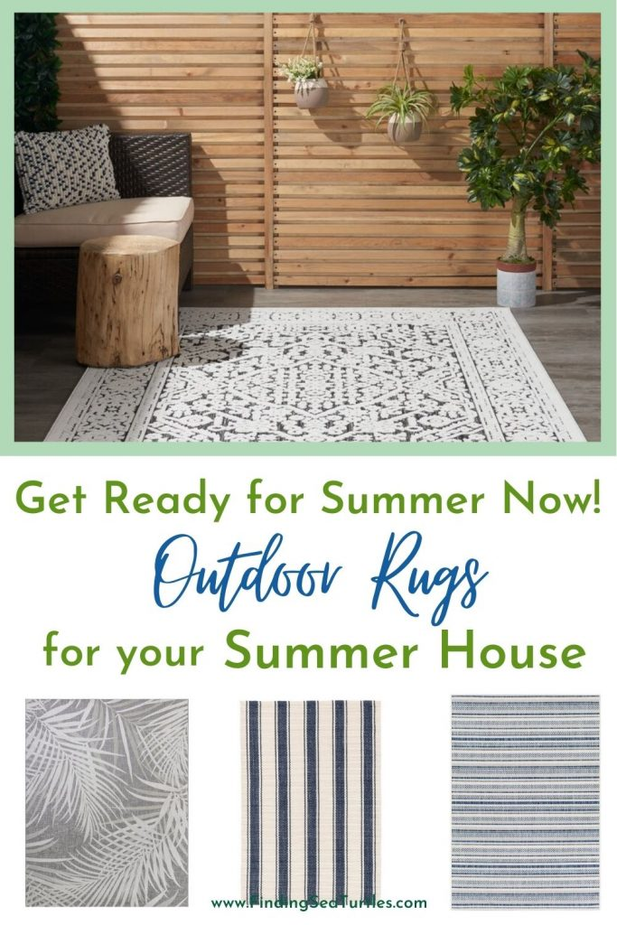 Get Ready for Summer Now Outdoor Rugs for your Summer House #OutdoorRugs #CoastalOutdoorRugs #Coastal #PatioRugs #HomeDecor #Entryway #BeachHouse #SummerHouse #LakeHouse #CoastalHome