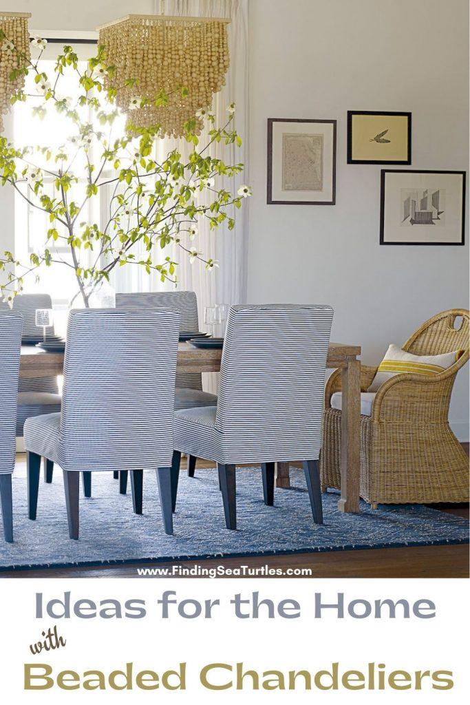 Ideas for the Home with Beaded Chandelier #Coastal #Boho #Chandeliers #BeadedChandeliers #CoastalDecor #DiningRoom #Entryway #Foyer #DecorIdeas #Inspo #CoastalLiving #HomeDecorTipsAndTricks #HomeDecor