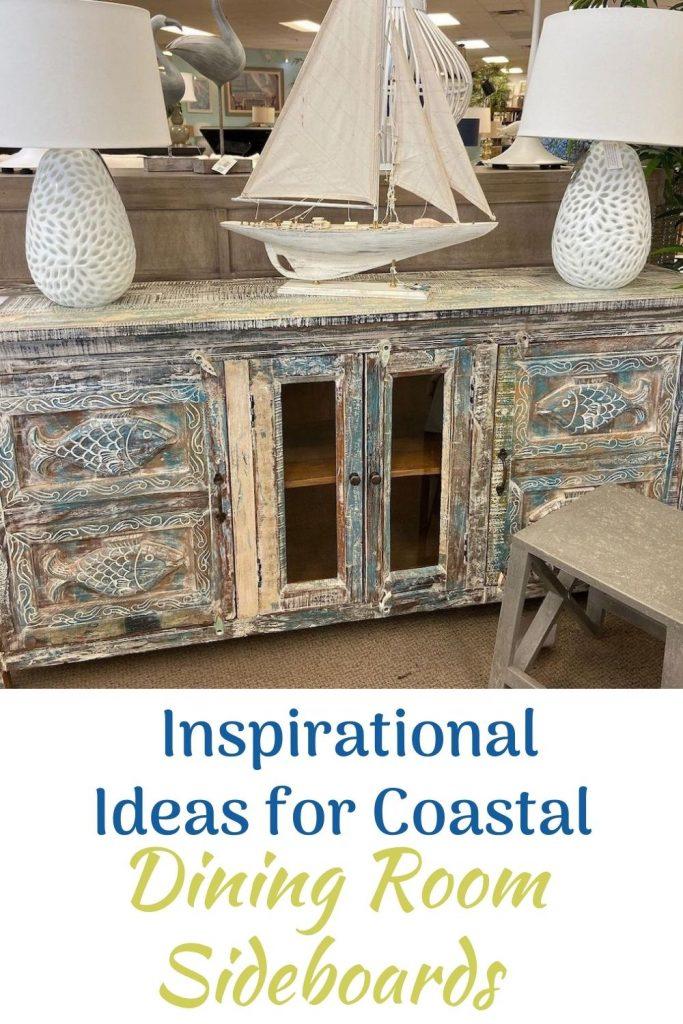 Inspirational Ideas for Coastal Dining Room Sideboards #Coastal #DiningRoom #Sideboard #Buffet #CoastalSideboard #CoastalDiningRoom #CoastalDiningSets #CoastalDecor #CoastalHomeDecor #BeachHouse #SeasideStyle #LakeHouse #SummerHouse #DiningRoomAccessories