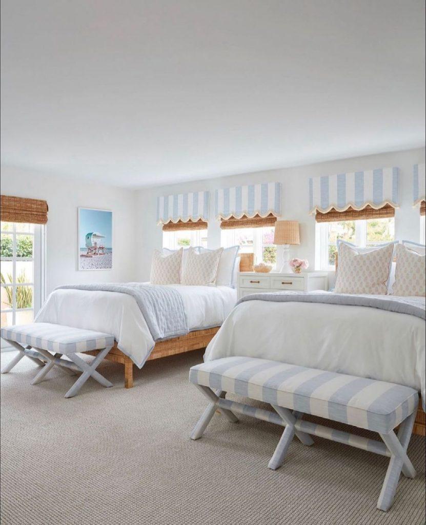 Inspo 18 #Coastal #Beds #BedRoom #CoastalBeds #CoastalBedroom #CoastalDecor #CoastalHome #CoastalLiving #BeachHouse #SeasideStyle #LakeHouse #SummerHouse #CoastalBohoDecor