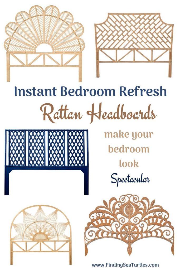 Instant Bedroom Refresh Rattan Headboards make your bedroom look Spectacular #Coastal #Beds #Headboards #RattanHeadboards #BedRoom #CoastalBeds #CoastalBedroom #CoastalDecor #CoastalHome #CoastalLiving #BeachHouse #SeasideStyle #LakeHouse #SummerHouse #BohoDecor