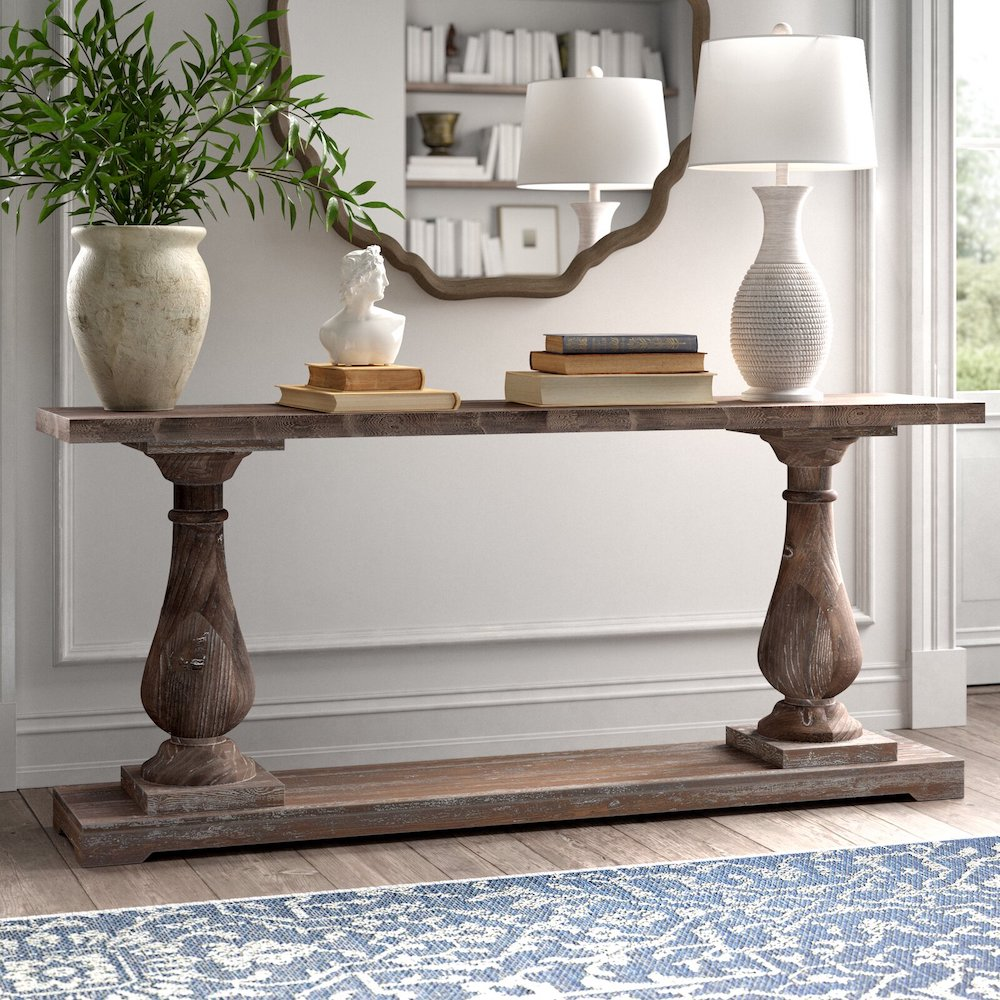 Style a Console Table Jarrell Solid Wood Console Table #StyleAConsoleTable #Entryway #Foyer #ConsoleTable #HomeDecor #ConsoleTableDecor #HallwayTable #HomeDecorTips #StylingTips