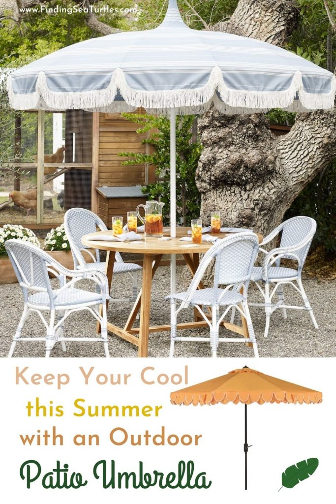 Keep Your Cool this Summer with an Outdoor Patio Umbrella #PatioUmbrella #MarketUmbrella #Pool #PoolSide #Patio #Summer #OutdoorSpaces #Backyard #PatioDecor #PatioFurniture #SummerHouse #CoastalHome #BeachHouse #LakeHouse #IslandHome #OutdoorLiving #BeachHouseStyle #BeachHouseDecor