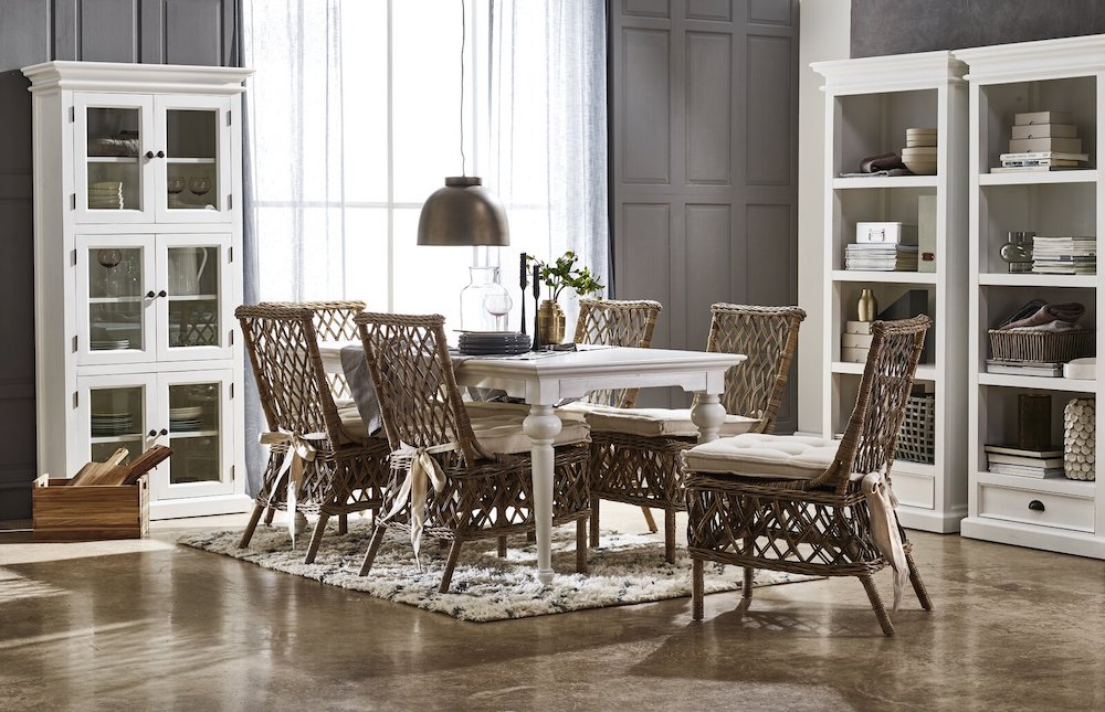 Coastal Dining Chairs Leatrice Cross Back Side Chair #Coastal #DiningRoom #CoastalDiningRoom #CoastalDiningSets #CoastalDecor #CoastalHomeDecor #BeachHouse #SeasideStyle #LakeHouse #SummerHouse #DiningRoomAccessories