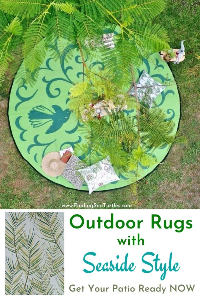 Outdoor Rugs with Seaside Style Get Your Patio Ready Now #OutdoorRugs #CoastalOutdoorRugs #Coastal #PatioRugs #HomeDecor #Entryway #BeachHouse #SummerHouse #LakeHouse #CoastalHome