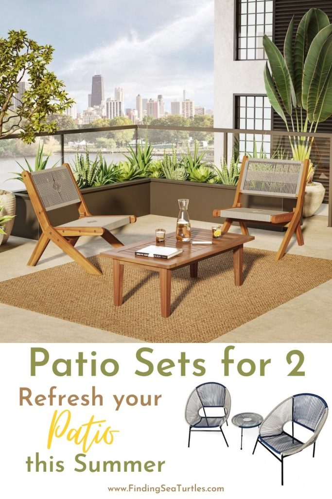 Patio Sets for 2 Refresh your Patio this Summer #Patio #PatioFurniture #PatioChairs #PatioConversatonSets #Summer #OutdoorSpaces #Backyard #PatioDecor #PatioFurniture #SummerHouse #CoastalHome #BeachHouse #LakeHouse #IslandHome #OutdoorLiving #BeachHouseStyle #BeachHouseDecor
