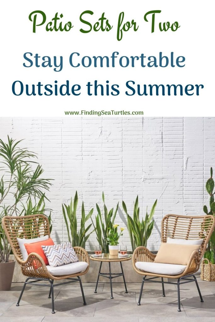 Patio Sets for Two Stay Comfortable Outside this Summer #Patio #PatioFurniture #PatioChairs #PatioConversatonSets #Summer #OutdoorSpaces #Backyard #PatioDecor #PatioFurniture #SummerHouse #CoastalHome #BeachHouse #LakeHouse #IslandHome #OutdoorLiving #BeachHouseStyle #BeachHouseDecor
