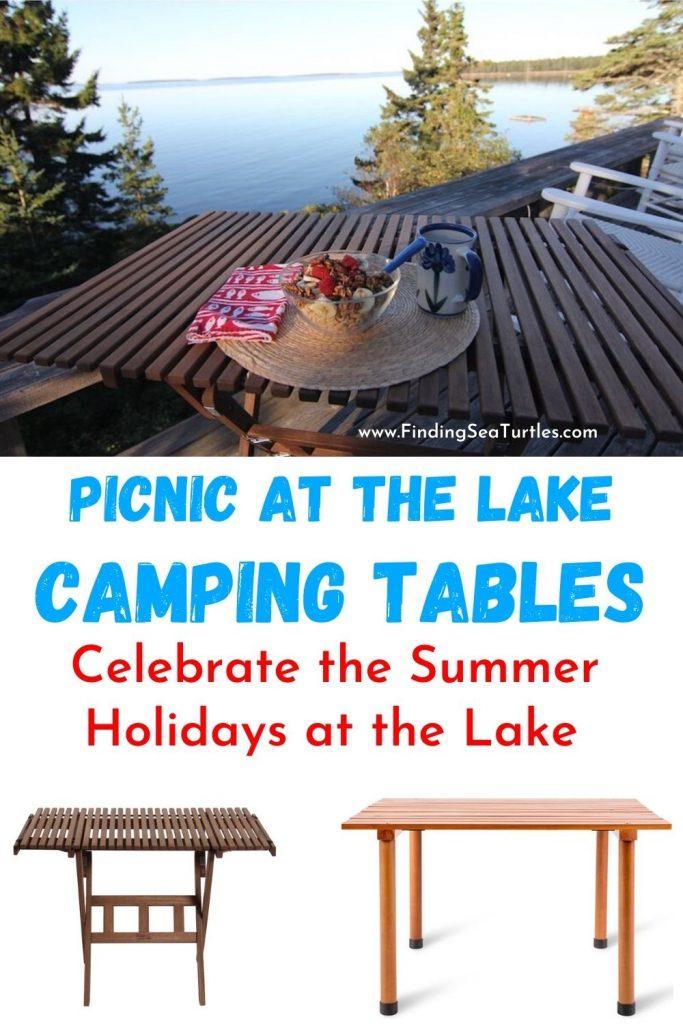 Picnic at the Lake Camping Tables Celebrate the Summer Holidays at the Lake #Picnic #PicnicCampingTable #PicnicattheLake #PicnicattheBeach #PicnicIdeas #SimplePleasures #FamilyPicnic #FamilyFun #Summer #BrunchattheBeach #BrunchIdeas #BeachBrunch #BrunchWithFriends