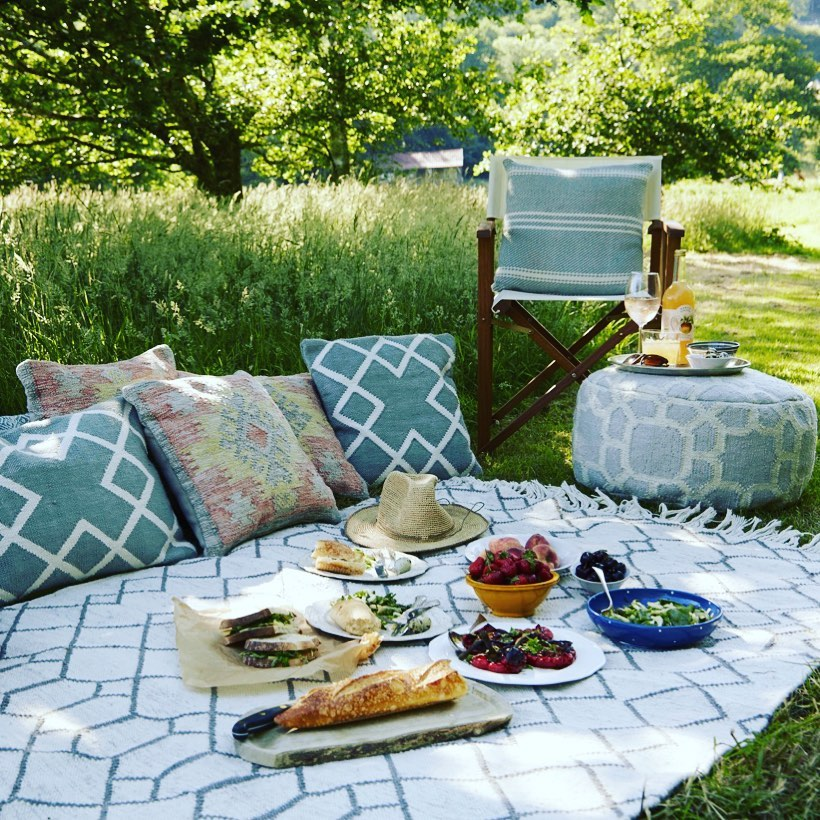 Picnic in Style #OutdoorRugs #CoastalOutdoorRugs #Coastal #PatioRugs #HomeDecor #Entryway #BeachHouse #SummerHouse #LakeHouse #CoastalHome