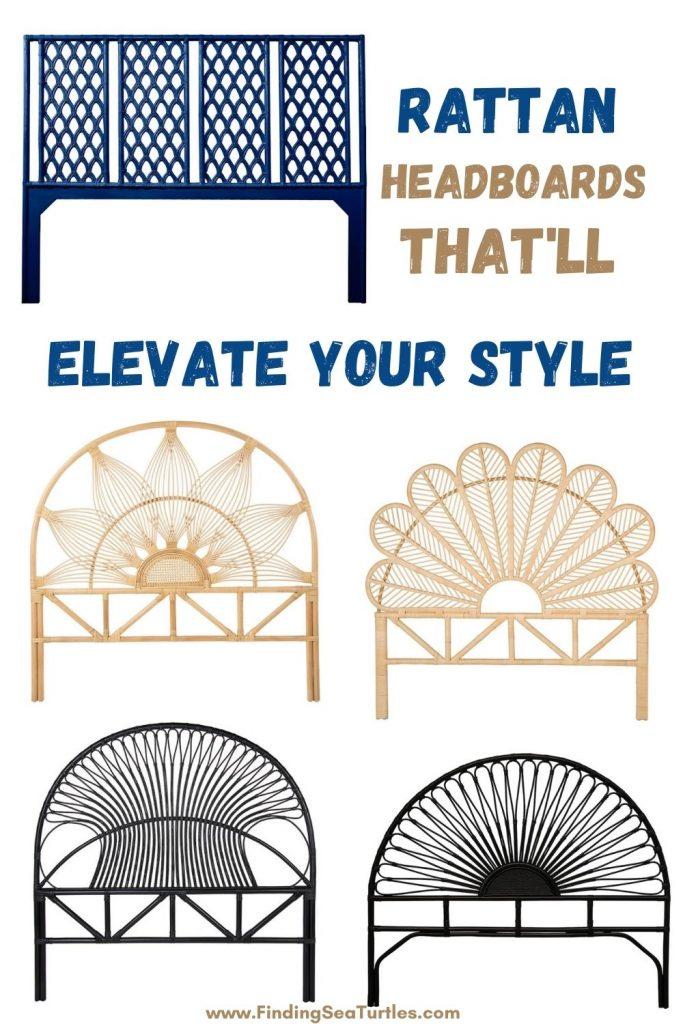 Rattan Headboards that'll Elevate Your Style #Coastal #Beds #Headboards #RattanHeadboards #BedRoom #CoastalBeds #CoastalBedroom #CoastalDecor #CoastalHome #CoastalLiving #BeachHouse #SeasideStyle #LakeHouse #SummerHouse #BohoDecor